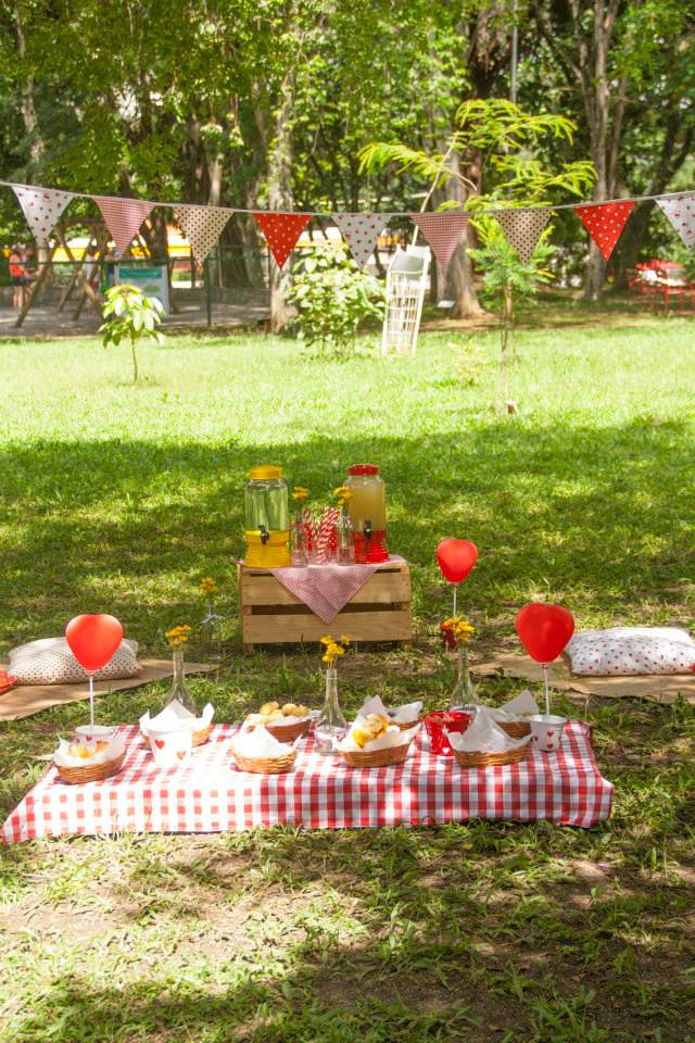 Ideias festa aniversário ar livre