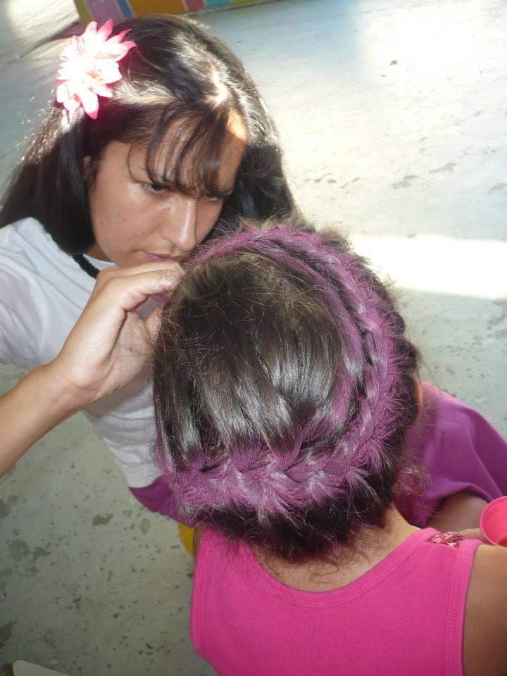 Maquilhagem e penteados infantis
