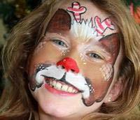 Pinturas faciais festas de Natal empresa